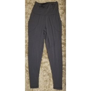 Lucy Pants - [GRAY] LUCY FOLD OVER WAIST JOGGERS WITH POCKETS